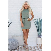 Sweet And Casual Two Piece Set (Olive)