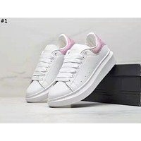 Alexander McQueen 2019 new thick-soled versatile white shoes #1