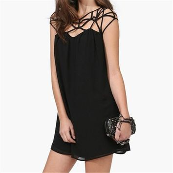 Dress With Strapping Shoulder 051311 CDP 0616
