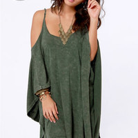 LULUS Exclusive Fair Play Washed Green Dress
