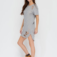 Holes In Your Story Terry Tee Dress