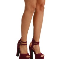Burgundy Jealous Platforms