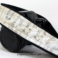 dSLR Camera Strap Sheet Music Notes Music by CoopersCollars