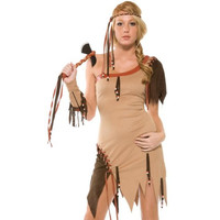 Forplay Womens Top of the Tribe Indian Halloween Party Dress Costume