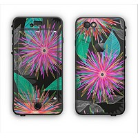 The Bright Colorful Flower Sprouts Apple iPhone 6 LifeProof Nuud Case Skin Set