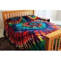 Extreme Rainbow Tie-Dye - 100% Cotton Duvet Cover Set by Brightside - Twin XL
