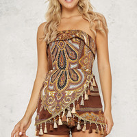 Moroccan Nights Playsuit Brown