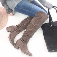 Keep Moving Taupe Boots