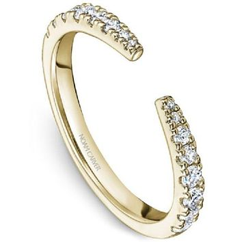Noam Carver Prong Set Split Diamond Stackable Band