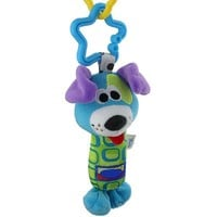Plush Blue Dog Hand Rattle Toy for Baby