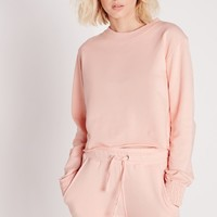 Missguided - Pink Crew Neck Sweater