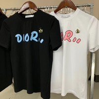 DIOR Men Womens Cotton T-shirt
