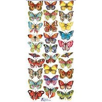 Butterfly Victorian 2 Sheets of Stickers