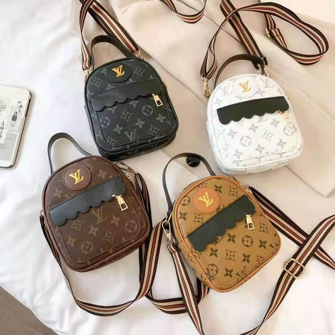 Image of LV Louis Vuitton Classic Print Letter Mini Backpack School Bag Daypack