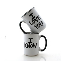 Star Wars (R) love you I know  Mug Set , Text Only, for Wedding or Anniversary, stoneware
