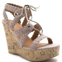 Taupe Kelsey Wedge Sandal