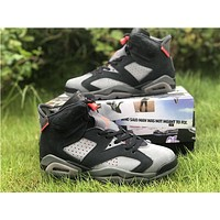 Air Jordan 6 Psg Paris Saint-germain Retro Iron Grey | Ck1229 001 Sneakers