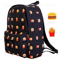 Comfort Casual Back To School College Hot Deal On Sale Stylish Print Canvas Backpack [4918674308]