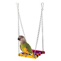 Happy home Pet Accessories Make Pet Bird Fun Tools Parrot Parakeet Budgie Cockatiel Cage Hammock Swing Toy Hanging Toy