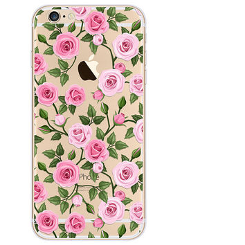 Some Rose Case TPU Cover for iphone 7 7 Plus & iphone 6 6s Plus & iphone se 5s + Gift Box