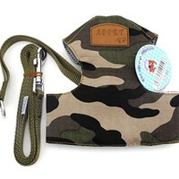 New Soft Mesh Nylon Vest Pet Cat Small Medium dog Harness dog Leash Set Leads Camo S