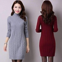 Womens pullover sweater Dress