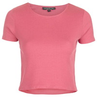 TALL Wide Ribbed Crop T-Shirt - Topshop