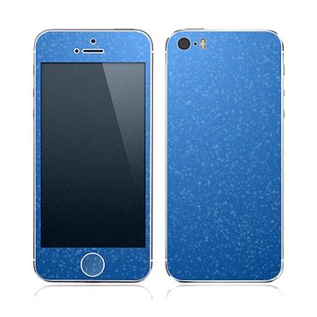 The Blue Subtle Speckles Skin for the Apple iPhone 5s