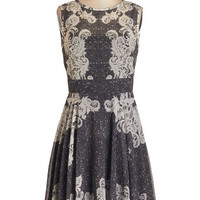 ModCloth Mid-length Sleeveless A-line Self-Taught Stylista Dress