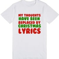 MY THOUGHTS HAVE BEEN REPLACED BY CHRISTMAS LYRICS