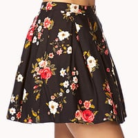 Fancy Floral Box Pleated Skirt   FOREVER 21 - 2000111938