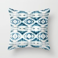 BOHEMIAN BLUES Throw Pillow by Nika