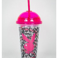 Playboy Pink Dome Cup with Straw - Spencer's