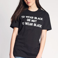 To Wear Black T-Shirt