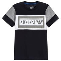 Boys Navy Blue Logo T-shirt