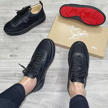 simpleoncharm Christian Louboutin CL low top casual shoes