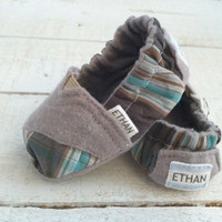 Personalized Boys TOMs-ish Baby Shoes 0-12m