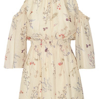 Rachel Zoe - Meade cold-shoulder floral-print silk-chiffon mini dress