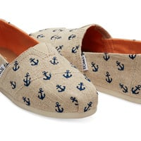 Navy Denim with Embroidered Anchors Women's Classics