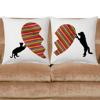 Dog lover, Cat lover Cushion Cover, throw pillow, Sofa pillow, decorative pillow, valentine's day, whimsical theme pillow