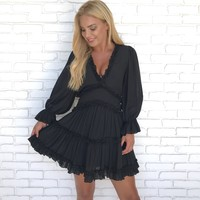 Get On My Level Ruffle Dress