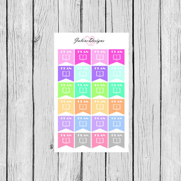 PLAN Flags Planner Stickers perfect for Erin Condren, Kikki K, Filofax, Plum Paper Planners #0001
