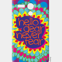 Hello Dear Never Fear Moto G Case | Dhwani Mankad