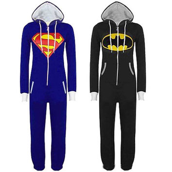 New Batman Superman winter of foreign trade of animal models piece pajamas cartoon casual tracksuit couple = 1927990276