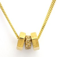 Marc by Marc Jacobs Party Girl Triple Bolt Necklace, Gold Oro