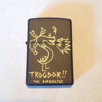 Custom engraved Trogdor lighter, engraved Zippo lighter made in the USA