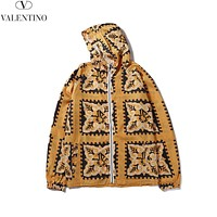 Valentino 2019 new men's and women's cardigan hooded jacket Yellow