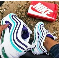 Nike Air Max 97 Fashion New Women Men Contrast Color Running Leisure Shoes