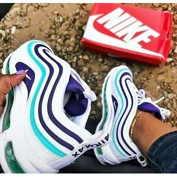 Air Max 97  Nike Fashion New Women Men Contrast Color Running Leisure Shoes