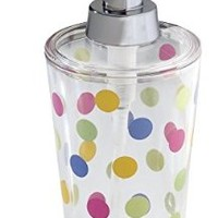 mDesign Polka-Dot Soap Dispenser, Clear